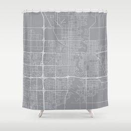 Fargo Map, North Dakota USA - Pewter Shower Curtain