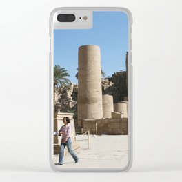 Temple of Luxor, no. 28 Clear iPhone Case