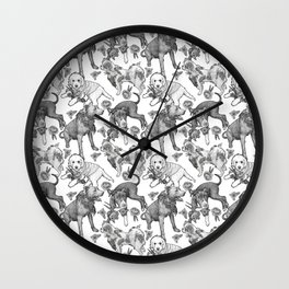 Fetching Florals Wall Clock