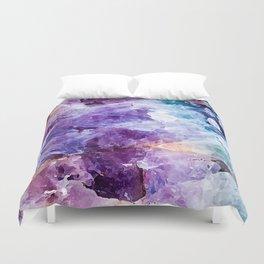 Multicolor quartz texture Duvet Cover