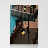 arab Stationery Cards featuring Dubai Burj Al Arab Walkway by gdesai