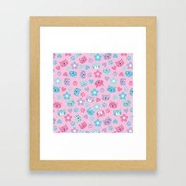 Kitty Cat Pattern by Everett Co Framed Art Print