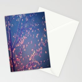 the pink branches Stationery Cards
