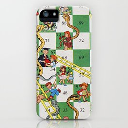 Vintage snakes and ladders iPhone Case