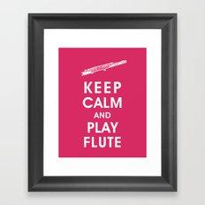 Keep Calm and Play Flute Framed Art Print