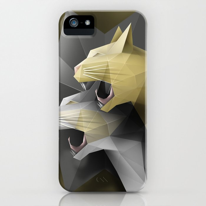 Geometric Cats iPhone Case
