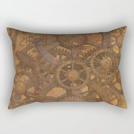 Vintage Gears Pattern (Color) Rectangular Pillow
