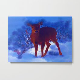 Searching deer Metal Print