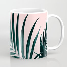 Modern tropical palm tree photography pastel pink ombre gradient Coffee Mug
