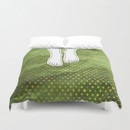 Barefoot Green Duvet Cover