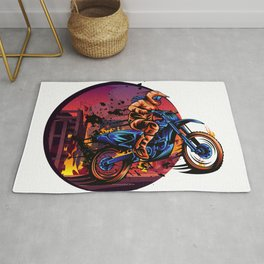 Fearless Motocross - Hot, Brave and Daring Rug