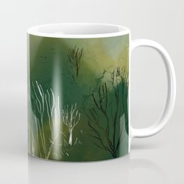 green forest painting Coffee Mug