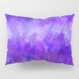 Dappled Blue Violet Abstract Pillow Sham