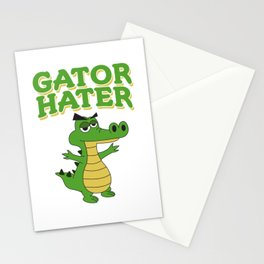 Haters Gonna Hate Tshirt Design Gator hater Stationery Cards