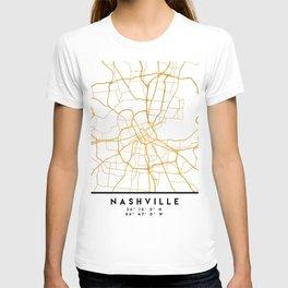 NASHVILLE TENNESSEE CITY STREET MAP ART T-shirt