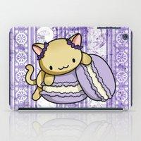 macaron iPad Cases featuring Macaron Kitty by Fushigi na Ringo
