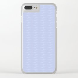 Blue 3d pattern Clear iPhone Case