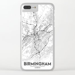 Minimal City Maps - Map Of Birmingham, Alabama, United States Clear iPhone Case