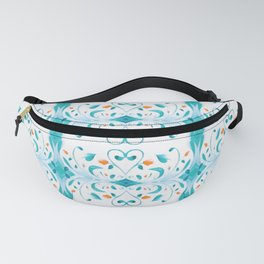 Lil Hearts - Art Deco Retro Flowers Fanny Pack