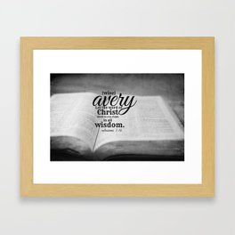 Avery Framed Art Print