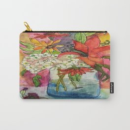 Fall Flower Bouquet Carry-All Pouch