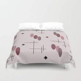 Ovals and Starbursts Colorful 5 Duvet Cover