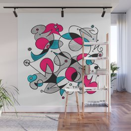 Abstract Birds Wall Mural