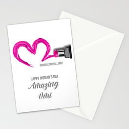 International Woman's Day Omi Choose To Challenge Stationery Cards