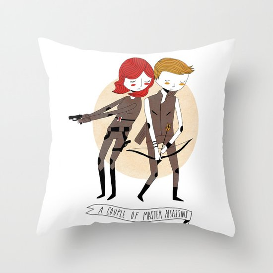 A Couple of Master Assassins Throw Pillow