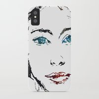 no face iPhone & iPod Cases featuring face by Artemio Studio