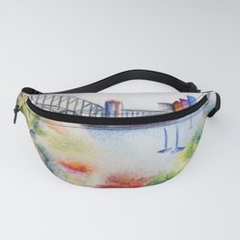 sydney harbour bridge Fanny Pack