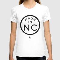 north carolina T-shirts featuring NC North Carolina (black) by DCMBR - December Creative Group
