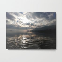 """""""Photography of Nature"""" Sunset on the Danube at Nagymaros, Hungary Metal Print"""