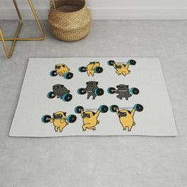 OLYMPIC LIFTING PUGS Rug
