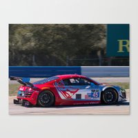 audi Canvas Prints featuring Audi R8 by Trackography