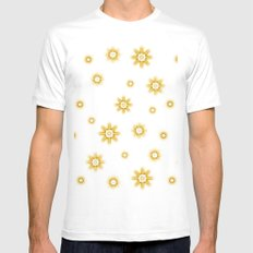 Stars - brown and white. Mens Fitted Tee White MEDIUM