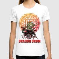 drum T-shirts featuring Dragon drum by kuuma