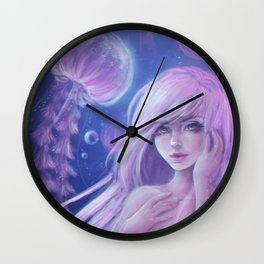 Jellyfish princess Wall Clock