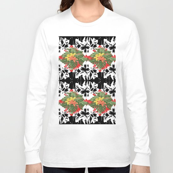 Flower Stamp Long Sleeve T-shirt