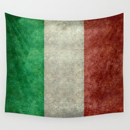 Flag of Italy, Vintage Retro Style Wall Tapestry