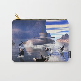Submarine with orcas  Carry-All Pouch