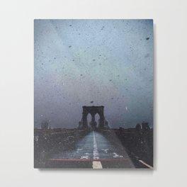 Brooklyn Bridge in the Dark Metal Print