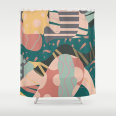 Tribal pastels Shower Curtain