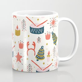 Christmas Card With Toys Coffee Mug
