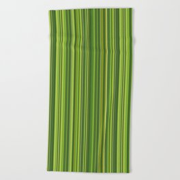 Many multicolored strips in the green sample Beach Towel