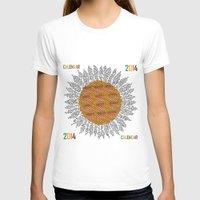 calendar T-shirts featuring Calendar 2014 - Sunflower by Julia Kisselmann