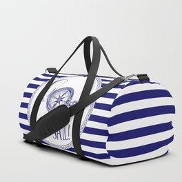Marine - set sail compass Duffle Bag