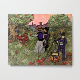 Cooking Apples In The Orchard Metal Print