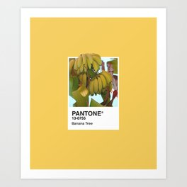 PANTONE SERIES – BANANA TREE Art Print