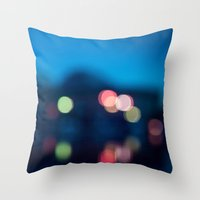 bokeh Throw Pillows featuring Bokeh by Ashley Hirst Photography